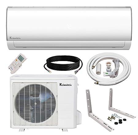 Klimaire Ductless Mini-Split Inverter Air Conditioner Heat Pump System with 15 Ft. Installation Kit 24K BTU_230V