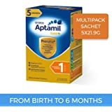 Aptamil Gold+ Infant Formula Stage 1 Multipack Sachet, 5 Pack, 109.5 Grams