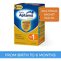 Aptamil Gold+ Infant Formula Stage 1 Multipack Sachet, 5 Pack, 109.5g