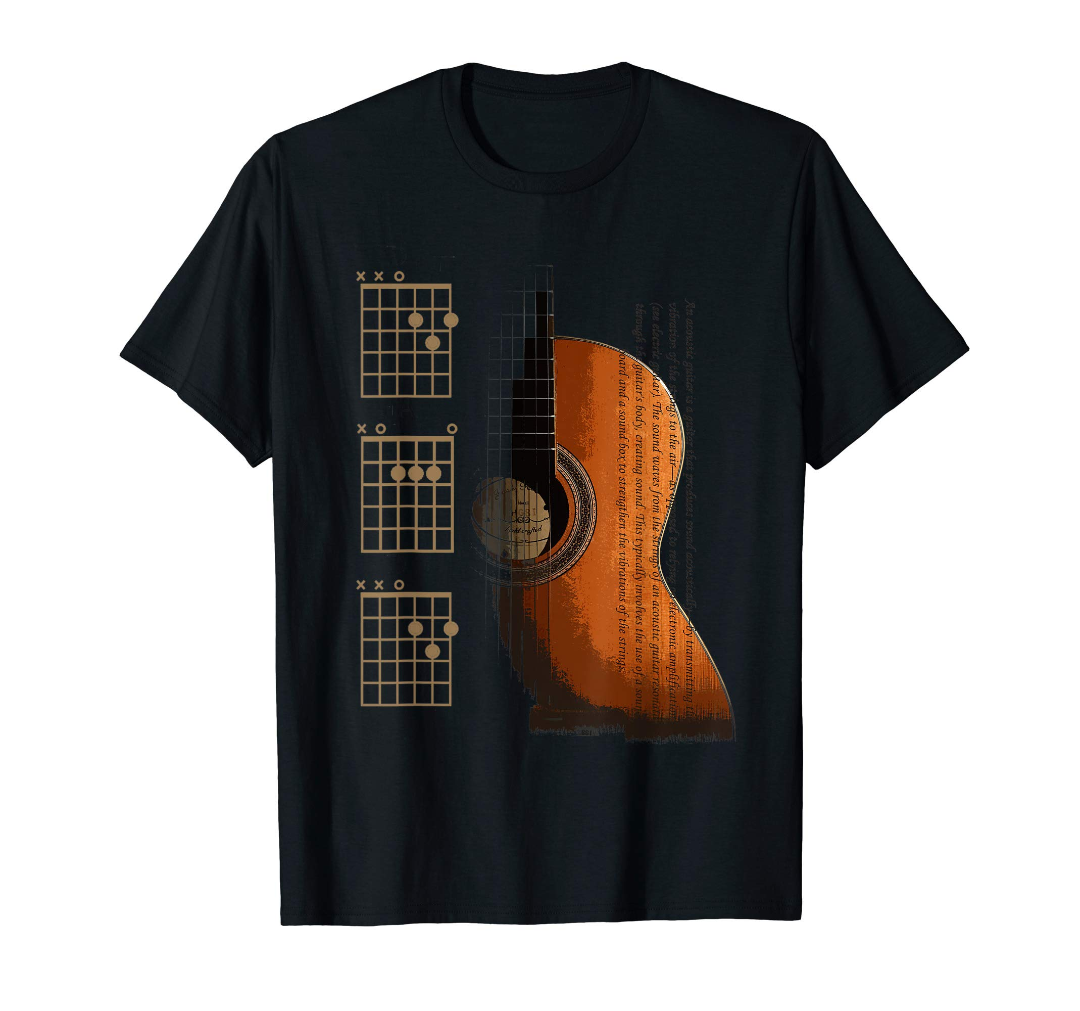 DAD Chords Acoustic Guitar For The Guitarist T-Shirt by The Acoustic Guitarist