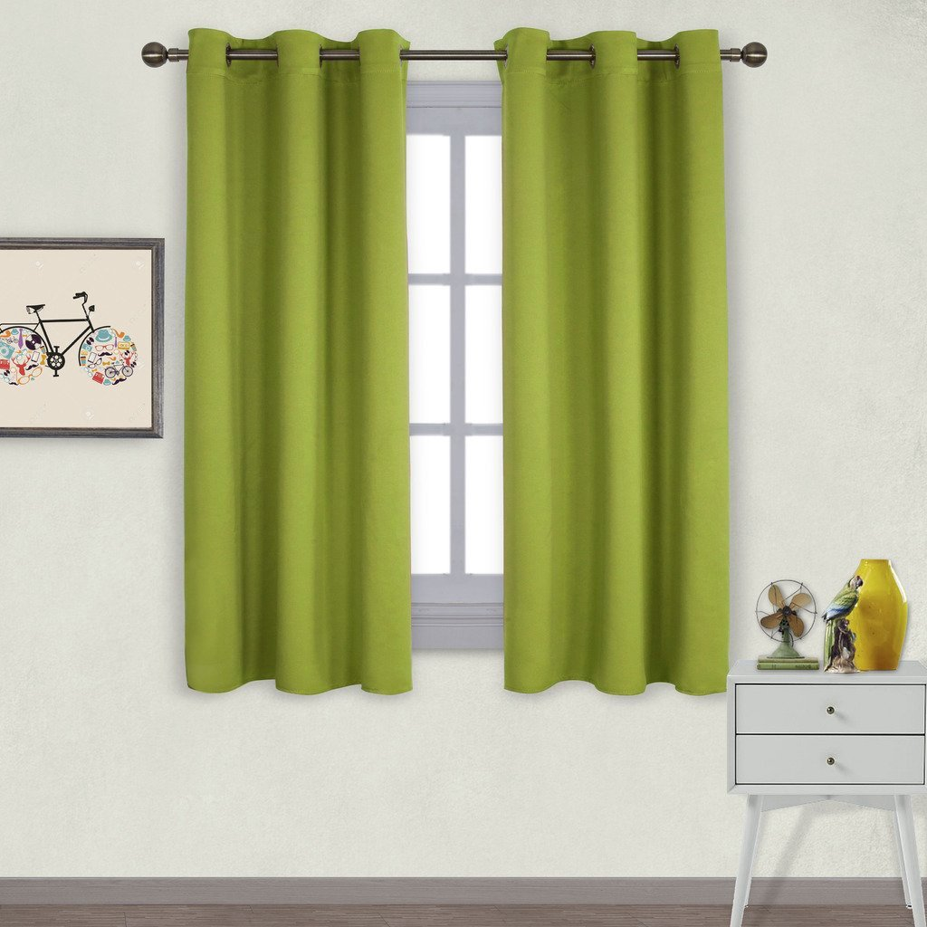 Nicetown Thermal Insulated Solid Grommet Top Blackout Curtains / Drapes for Kid's Room