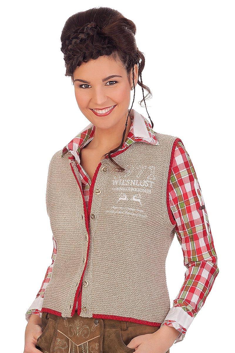 orbis Textil Damen Trachten Strickweste - BETTI - Natur, braun