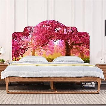 Charmant 3D Romantische Kirschblüten Lila Lavendel Kopfteil Aufkleber Schlafzimmer  Feuchtigkeitsdichten Antifouling Hause Verschönern Dekoration DIY  Wandaufkleber ,
