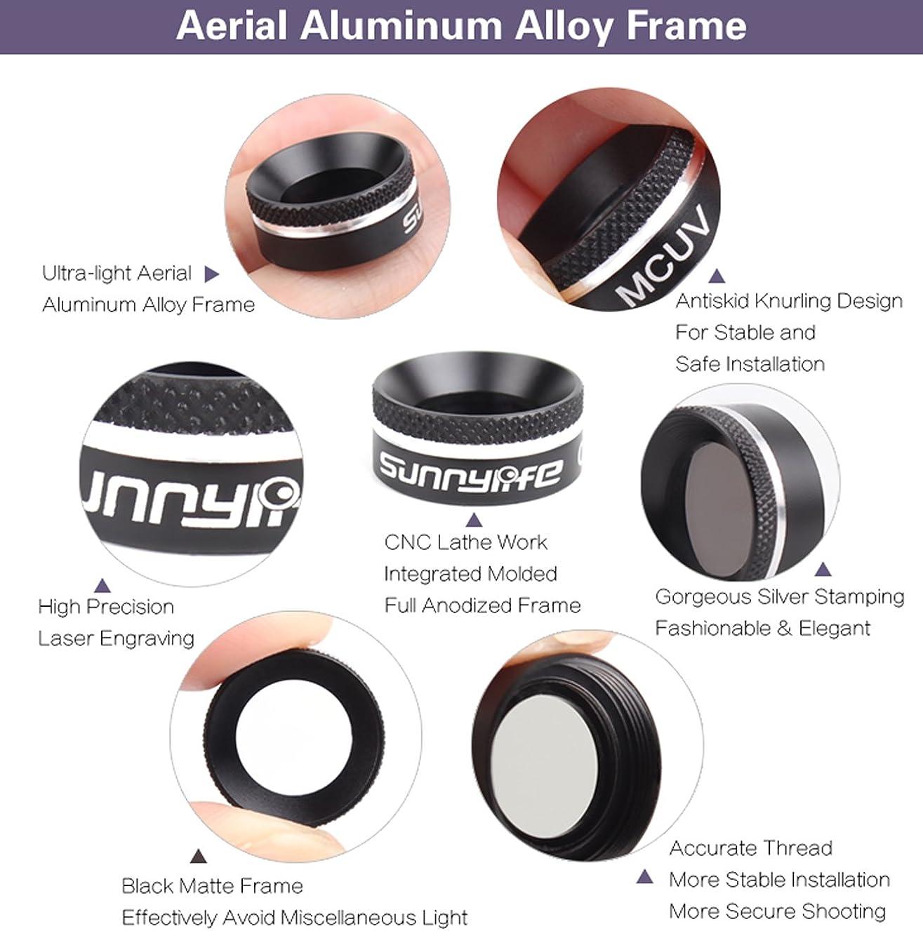 CZFRIEND Camera Lens Filter Set Accessories Hood Lens Protection for DJI MAVIC AIR Drone Quadcopter