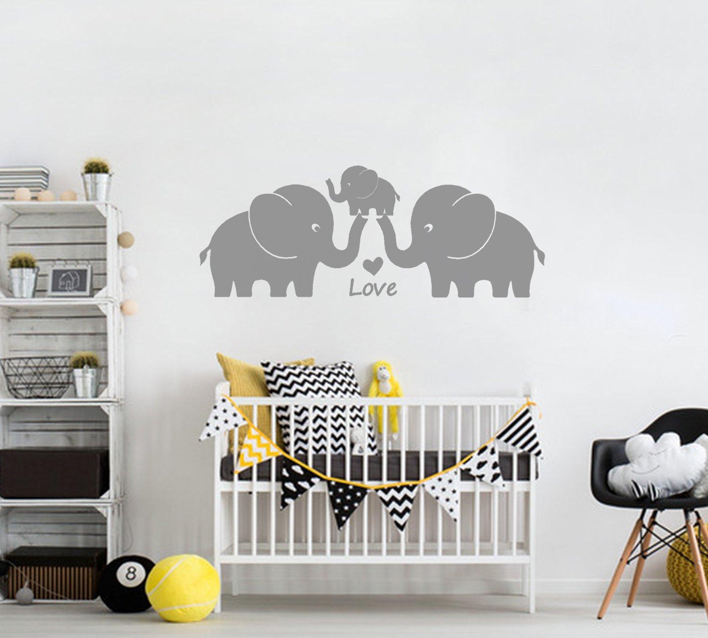BDECOLL lustig elefant wandtattoo-mit SpruchYou are My Angel Wandaufkleber Wandsticker Grau Wanddekoration Kinderzimmer-DIY Dekorativ Kunst Wandaufkleber