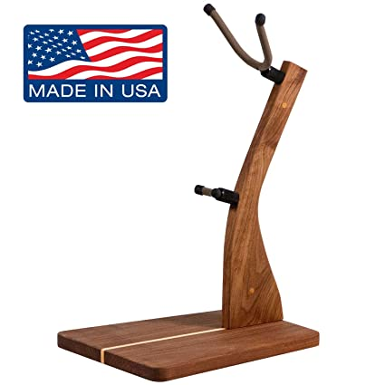 Amazon.com: Zither Wooden Saxophone Stand - Handcrafted Solid Walnut Wood Floor Stands, Made in USA: Musical Instruments