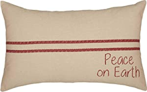 Piper Classics Peace on Earth Grain Sack Pillow Cover, 12