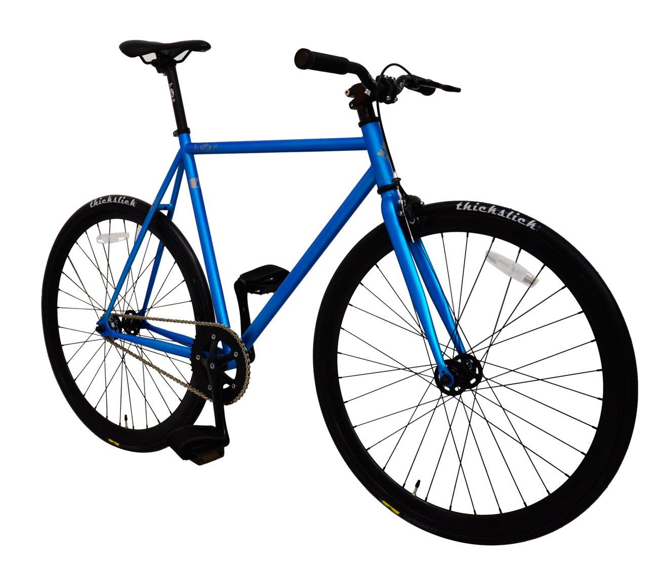 クリアランス固定ギアフィクシーバイクシングルスピードロードバイク 53cm/Medium ブルー B01HHQOGBI