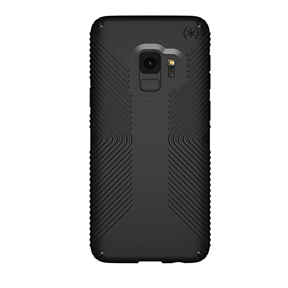 best loved d6e56 9fe53 Speck Presidio Grip Samsung Galaxy S9 Case, Black/Black - 109509-1050