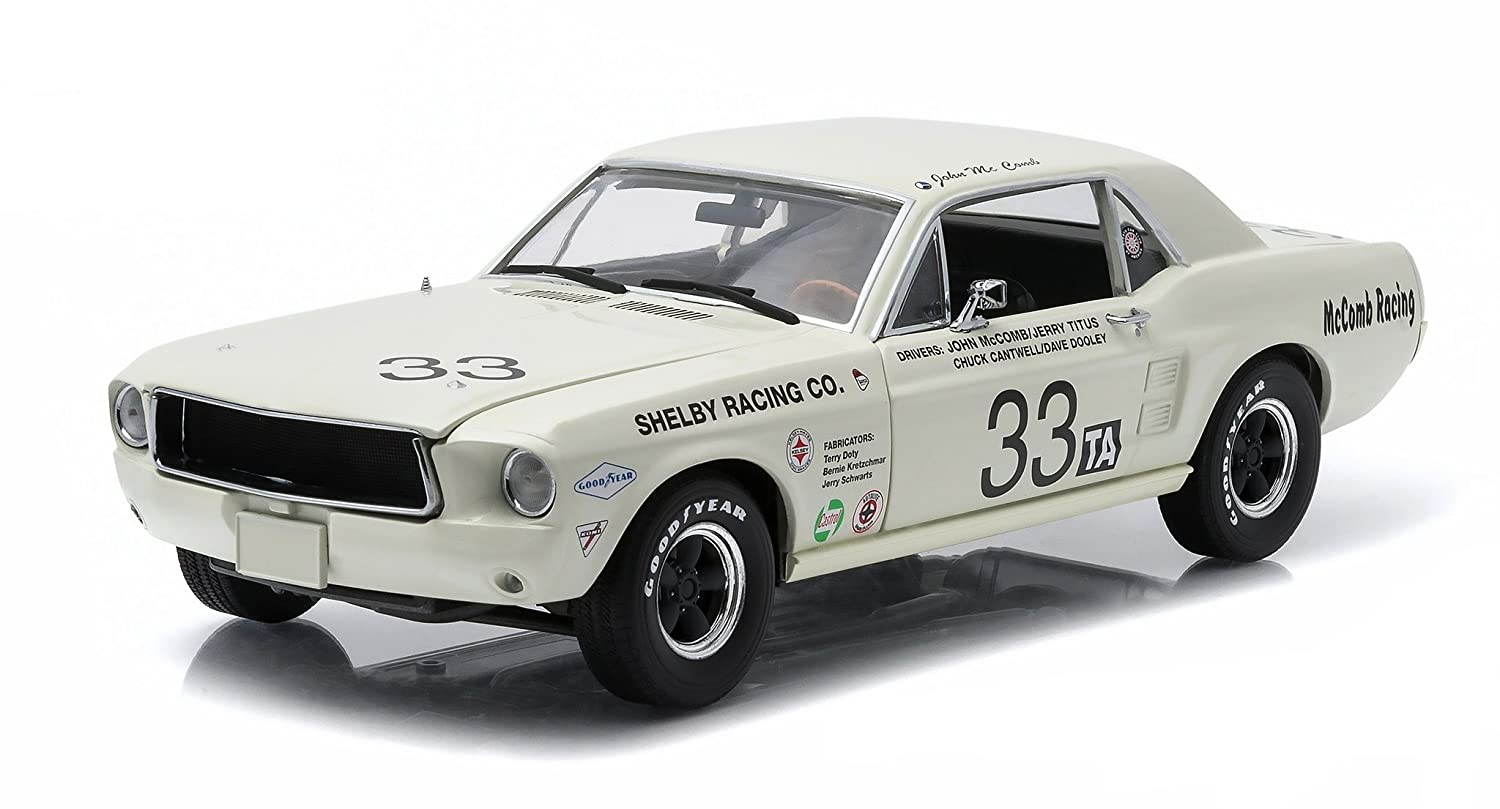 Greenlight 12935 1967 Ford Shelby Mustang No.33 Shelby Racing Co. Jerry Titus & John McComb Racing Tribute Edition 1-18 Diecast Model Car B018F2PCIY