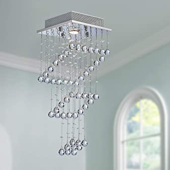 Moderne Kristall Regentropfen Kronleuchter Beleuchtung ...