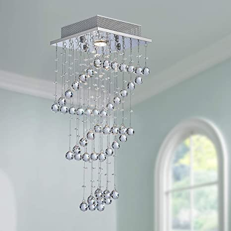 Cristal moderno Raindrop Araña Iluminación Montaje empotrado ...
