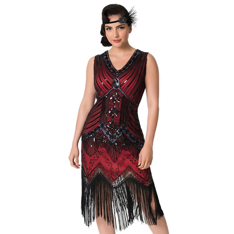 Sequin Dress Gatsby Dresses - Flapper Dress Evening Dress for Women IMAGICSUN MYM002