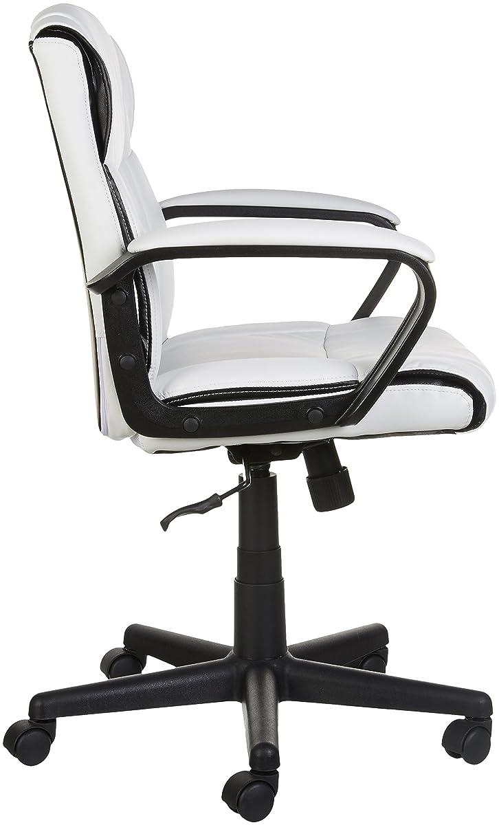 AmazonBasics Mid-Back Office Chair, White