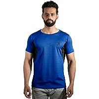 Athflex Flex-Fit Techno Men's Solid Round Neck Regular Dry Fit T-Shirt, Workout T-Shirt, Sports T- Shirt, Fitness Gym T-Shirt.