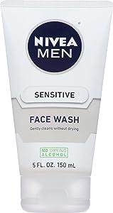 NIVEA Men Sensitive Face Wash - Cleanses Without Drying Sensitive Skin - 5 fl. oz. Bottle