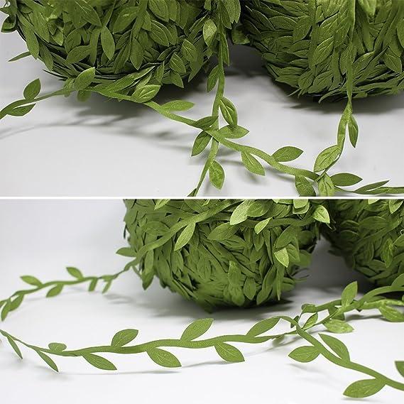 Hojas de vid guirnalda de sat/én cadena Trim Artificial hojas 50/Meter Home boda decoraci/ón de Navidad