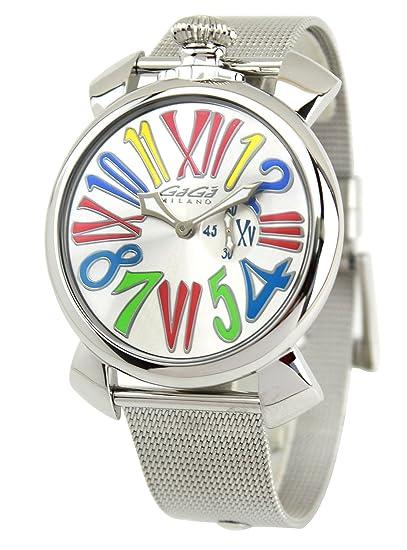 new styles 55166 318c0 Amazon | [ガガ ミラノ] GAGA MILANO 腕時計 MANUALE SLIM 46MM ...