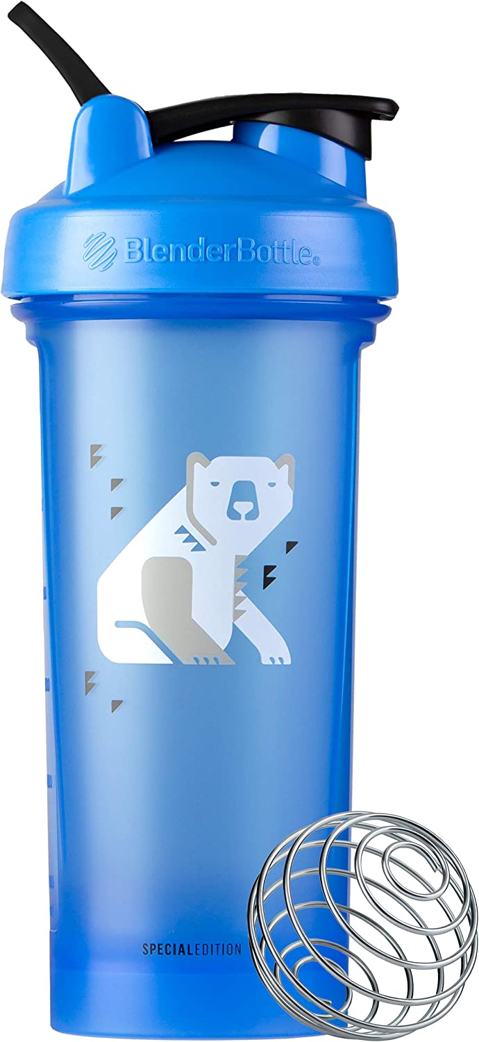 BlenderBottle Arctic Animals Classic Shaker Bottle Perfect for Protein Shakes and Pre Workout, 28-Ounce Polar Bear