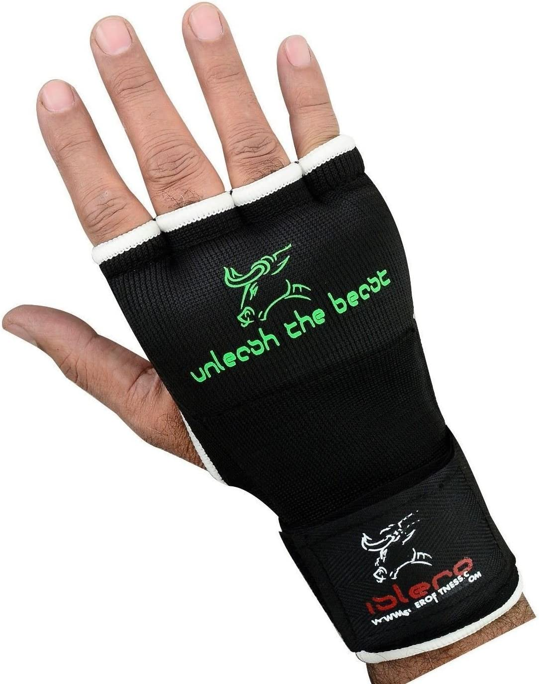 Islero Boxing Inner GEL Gloves hand Wraps Punch Bag MMA Grappling Martial Arts Bandages