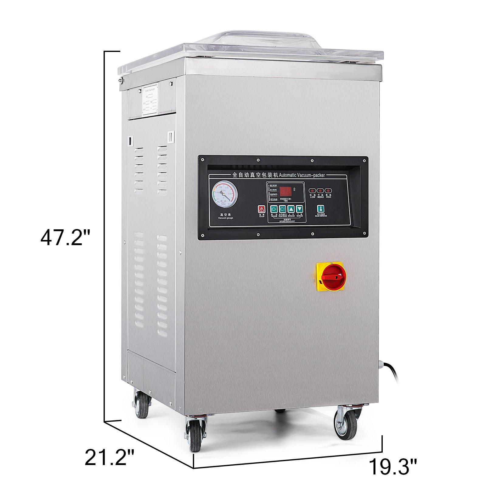 Happybuy DZ-400/2E Chamber Vacuum Sealer 1000W Vacuum Sealer Machine Automatic Vacuum Packing Sealing Sealer Machine for Home or Commercial Use (DZ-400/2E) by Happybuy (Image #2)