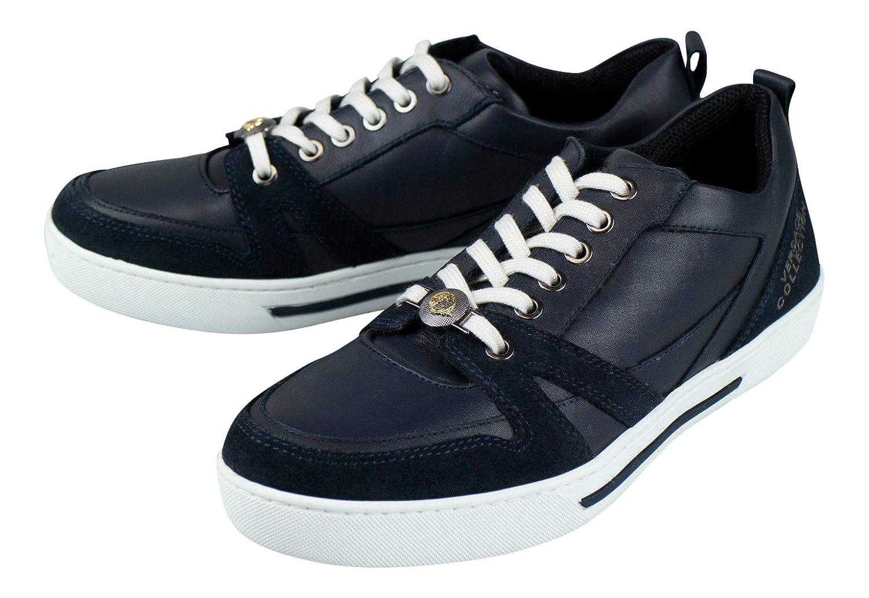 Versaceコレクションブルースエードレザーファッションスニーカー靴サイズ7 US 40 EU   B071WMYQPP