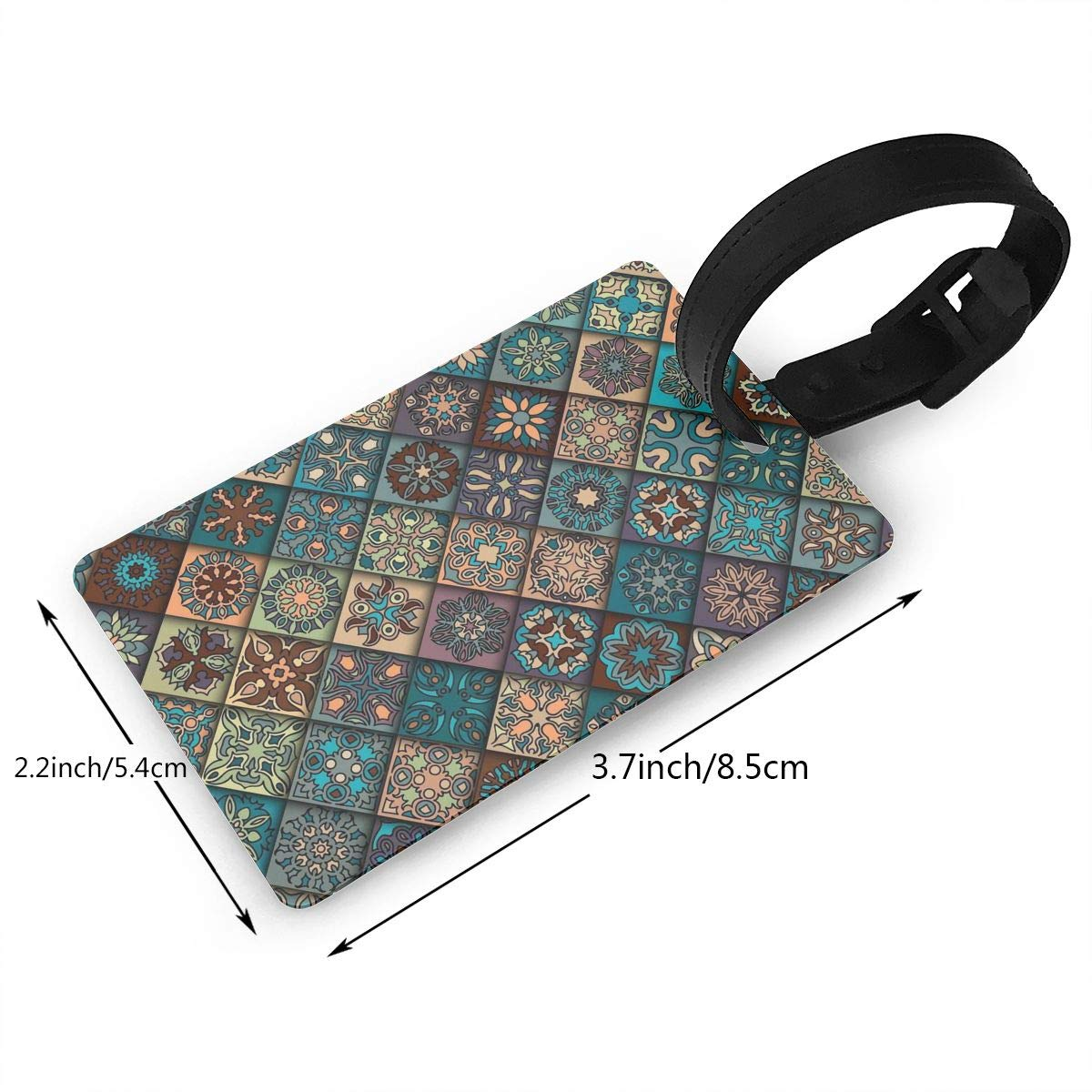 2 Pack Luggage Tags Abstract Cruise Luggage Tag For Travel Bag Suitcase Accessories