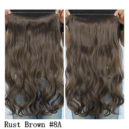 Extensiones Halo Hair de pelo rizado sintético, 51 cm