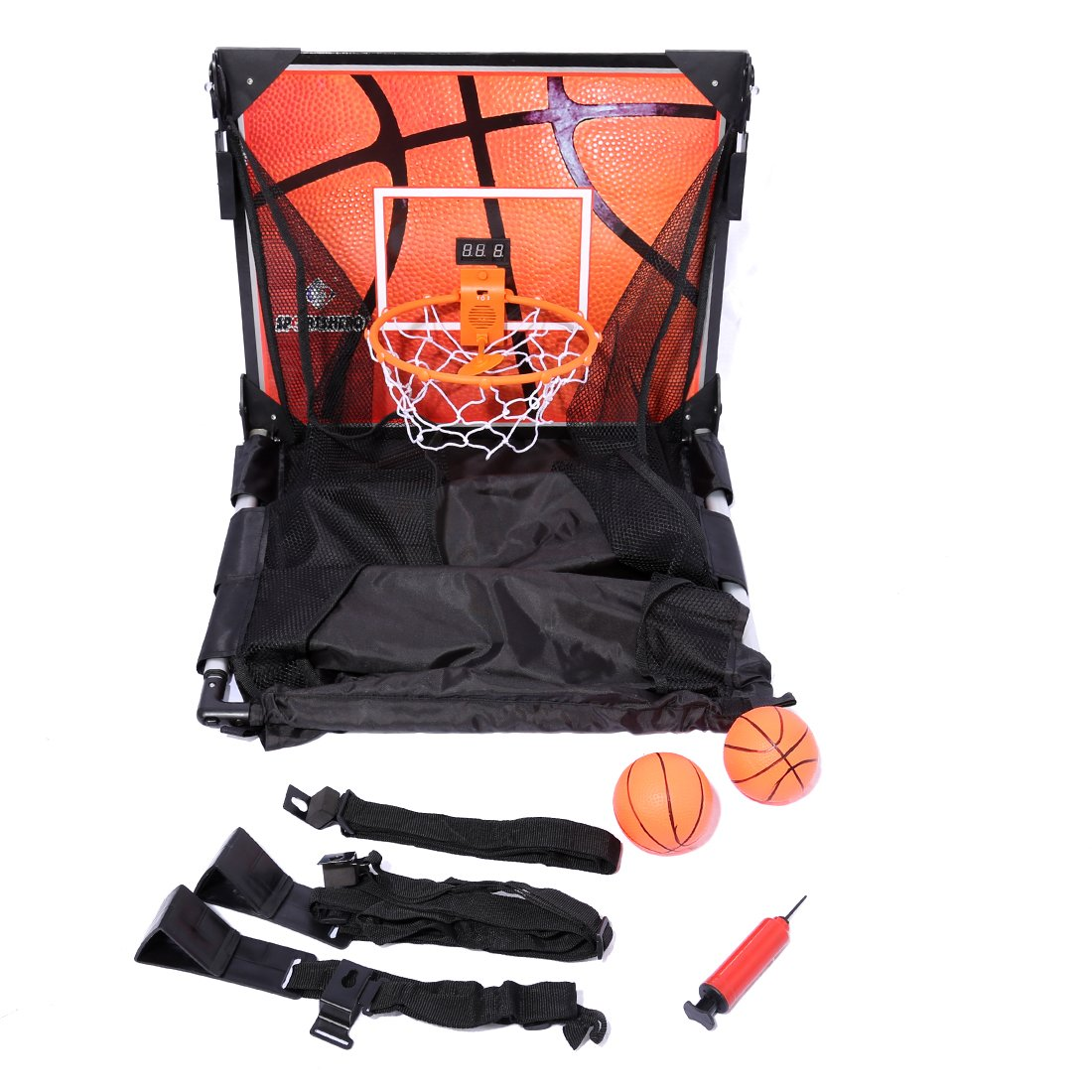 Basketball Shooting Machine PINCHUANGHUI Door Hanging Automatic Scoring Basketball Shooting Machine Foldable Shooting Hoop - Main Black by PINCHUANGHUI (Image #2)