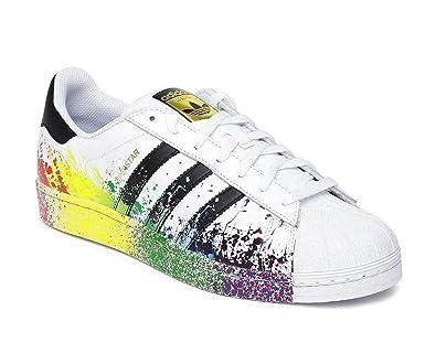 online store 06b08 1a633 adidas Originals Superstar Pride Edition Rare Paint Splatter UK Size 5.5  BNIB  Amazon.co.uk  Shoes   Bags