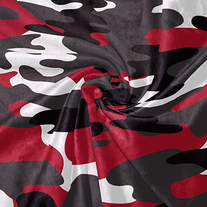 Amazon.com: AUUXVA SEULIFE Blankets Camouflage Red, 50 x 60 ...