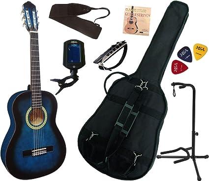 MSA - Pack de guitarra clásica 3/4 para niños de 8-13 años, con 7 ...