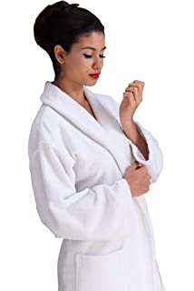 Hotel Spa Collection Bathrobe,Terry Lining,for Men/Women,Long Robe Cloth