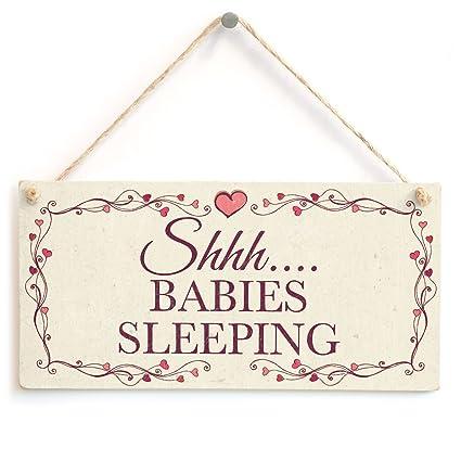 Amazon.com: Shhh…. Babies Sleeping - Beautiful Handmade Sign ...