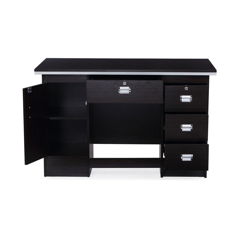 black office table. Nilkamal Recardo Office Table (Walnut Finish, Brown): Amazon.in: Home \u0026 Kitchen Black