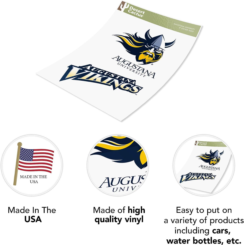 4 Inch Set Augustana University NCAA Sticker Vinyl Decal Laptop Water Bottle Car Scrapbook