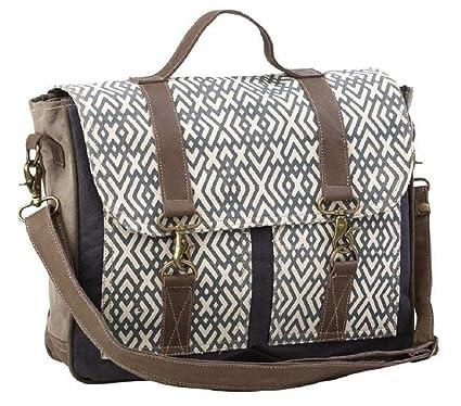 a3edcf78daac Myra Bag X Design Upcycled Canvas Messenger Bag S-1191