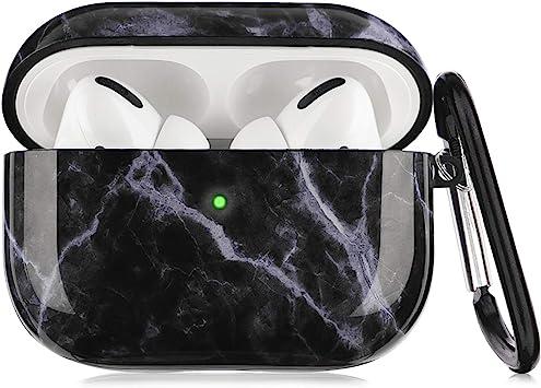 Amazon Com Airpods Pro Case Litodream Black Marble For Apple