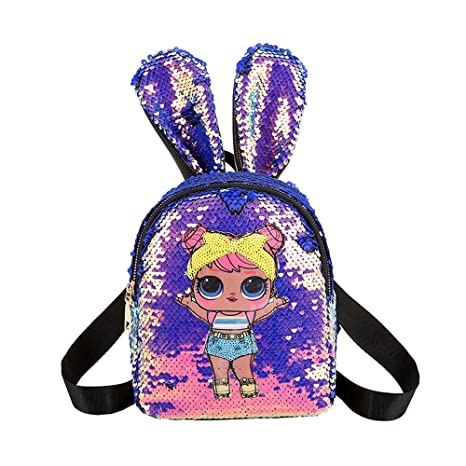 Personalised Kids Backpack Any Name Trolls Girl Childrens Back To School Bag 6