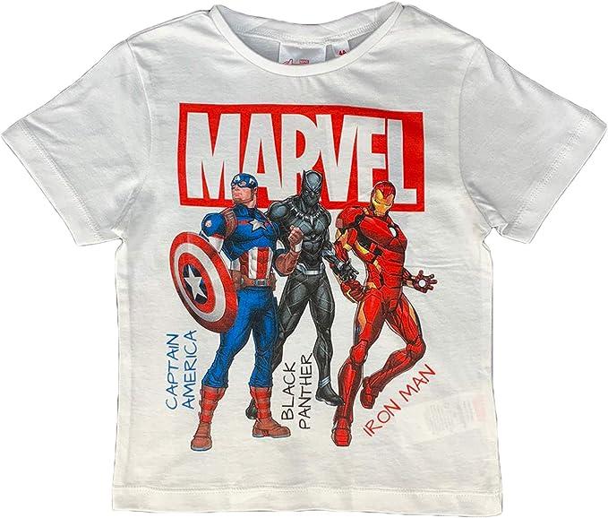 Avengers maglietta T-shirt Manica corta Bambino cotone  da 4 6 8 10 anni