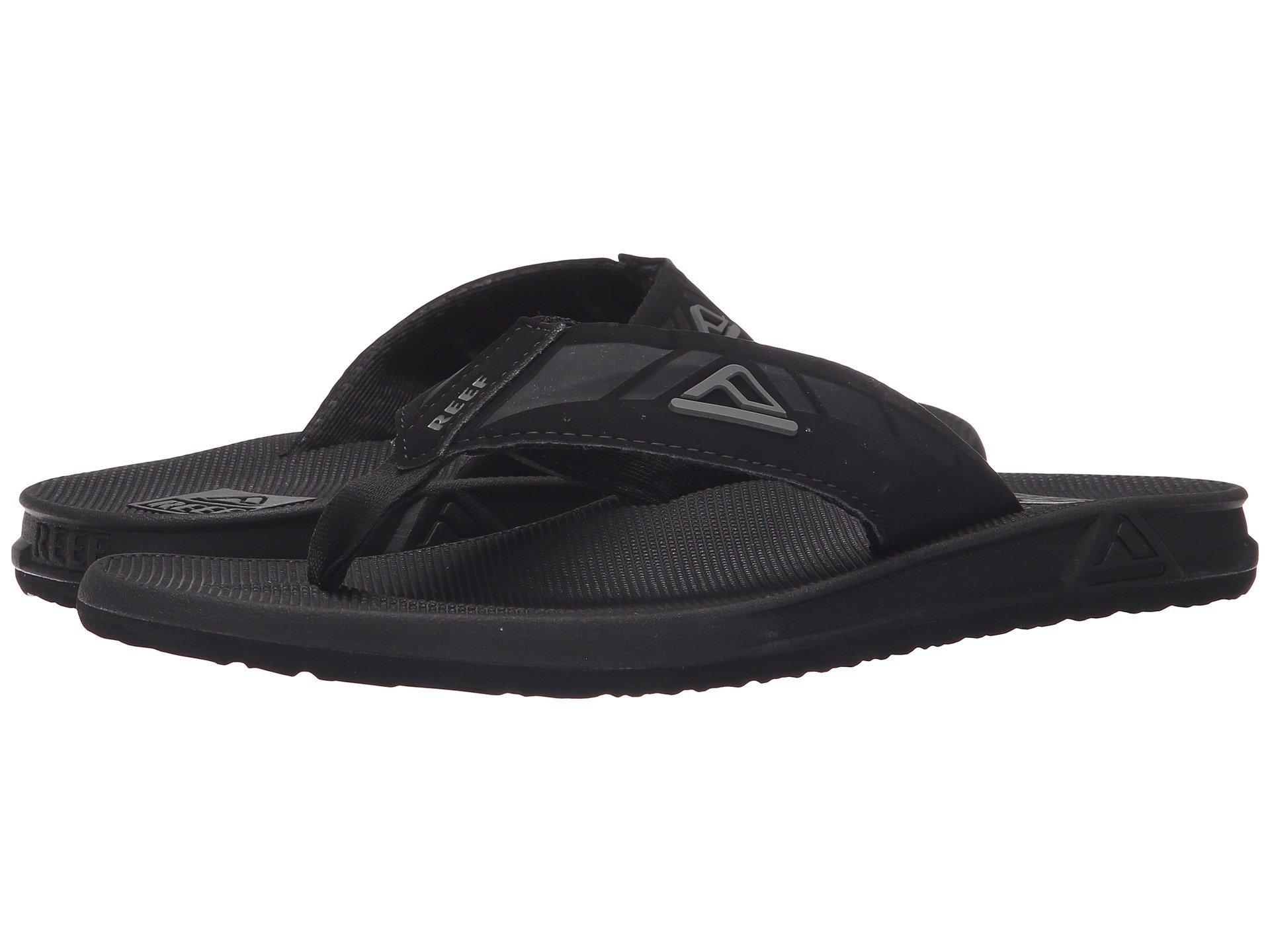 Reef Mens Phantom Sandals Black/Black Size 13