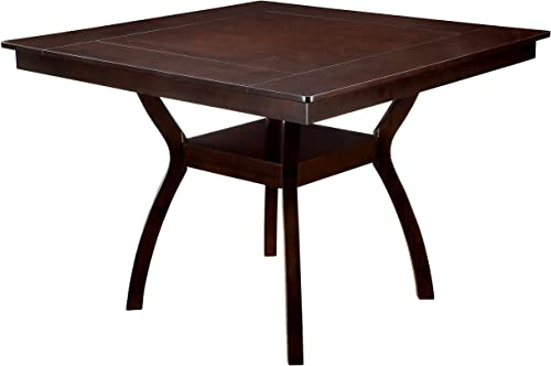 Furniture of America Dalcroze Counter Height Dining Table, Dark Cherry