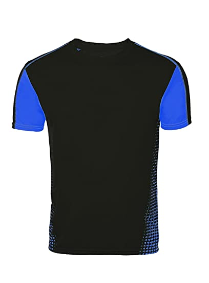 ad9912e5 ZITY Short Sleeves T-Shirts, Men's Sport Quick Dry Short Sleeves T-Shirts  Printing Tee Black XXL: Amazon.in: Clothing & Accessories