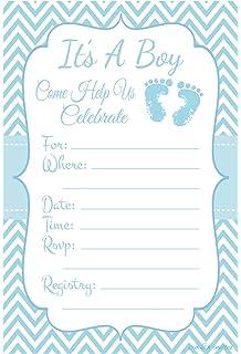 Amazon Com 30 Baby Shower Invitations Boy With Envelopes Baby