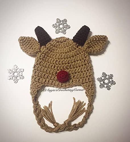 Image Unavailable. Image not available for. Color  Crochet Reindeer Hat ... d04b500f9f4
