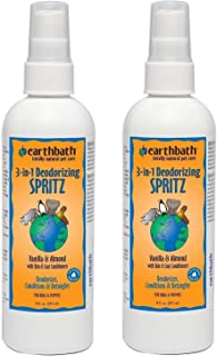 product image for Earthbath 2 Pack of 3-in-1 Deodorizing Spritz, Vanilla and Almond for Dogs and Puppies, 8 Ounces Each