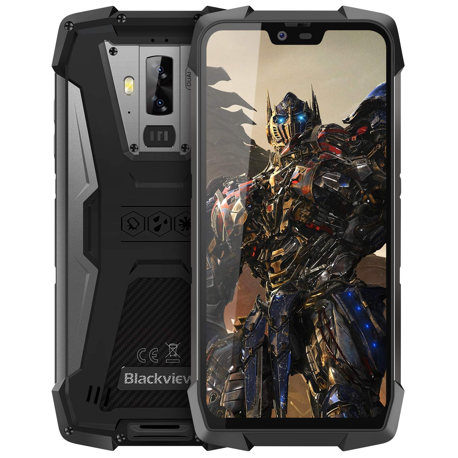 Rugged Cell Phones Unlocked, Blackview BV9700 Pro 4G Rugged IP68 Waterproof Drop Proof Smartphones, Octa Core 6GB+128GB 5.8 inches FHD Screen Android 9.0 4380mAh Battery Dual Sim Mobile Phone, Black by Blackview