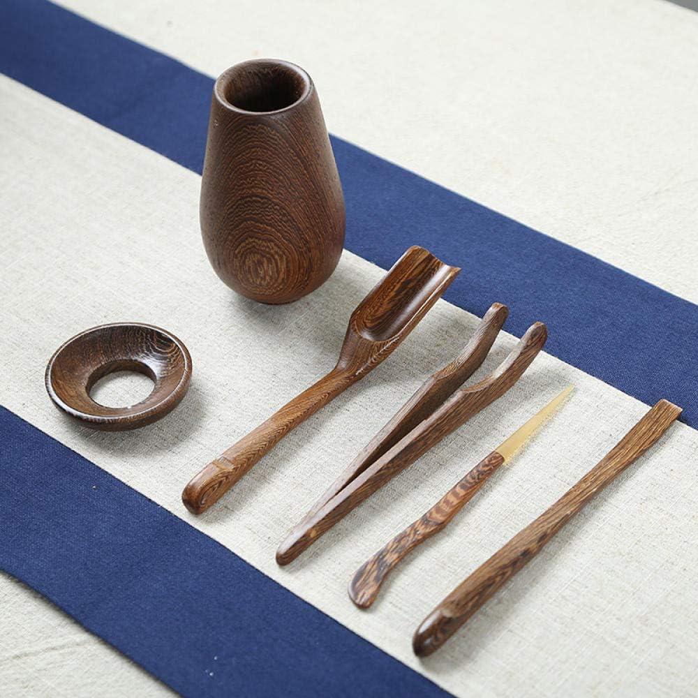 Accesorios para juegos de t/é Ceremonia del t/é seis caballeros Kung Fu juego de t/é clip de t/é de madera maciza aguja de t/é t/é arte accesorios de bandeja de t/é-Ala de pollo Ceremonia del t/é coreano Sei