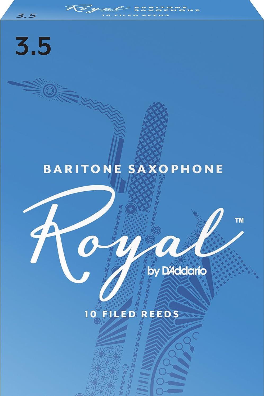 Rico Royal Baritone Sax Reeds, Strength 3.0, 10-pack RLB1030 nats-9038843-28