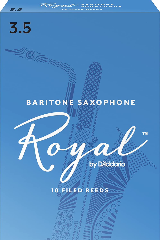 Rico Anches Rico Royal pour saxophone baryton, force 3.5, pack de 10 D' Addario Ltd RLB1035